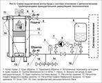 Подключение котла в объемной системе отпления